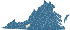 Map of Floyd County